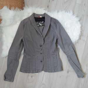 H&M grey fitted blazer jacket